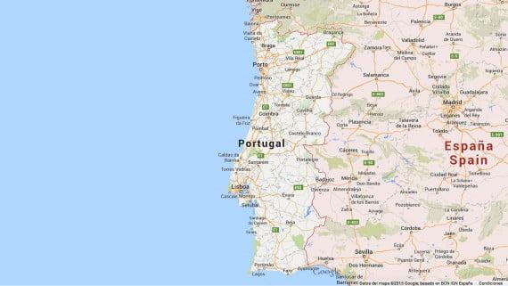 Mapa de carreteras Portugal-España