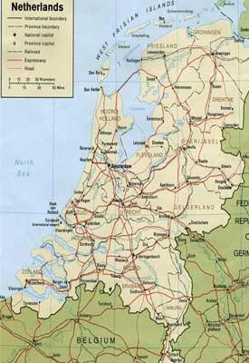 Mapa De Carreteras De Holanda