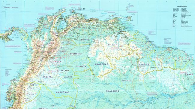 Mapa De Carreteras De Venezuela