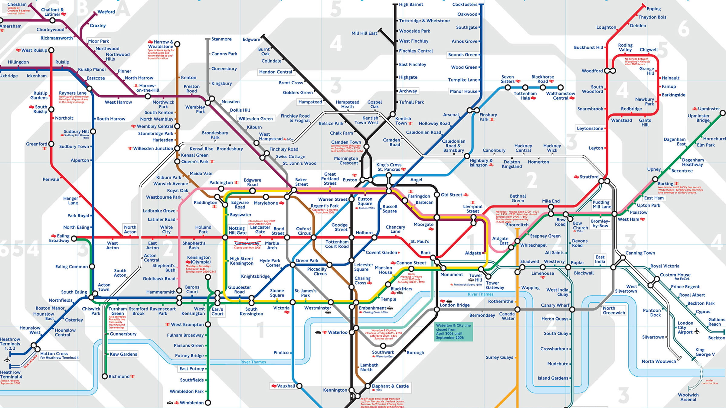 mapa de londres por zonas Mapa de las líneas de metro de Londres con zonas mapa de londres por zonas
