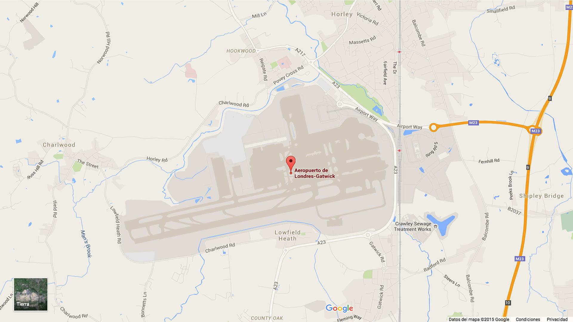 Mapa del Aeropuerto de Londres-Gatwick