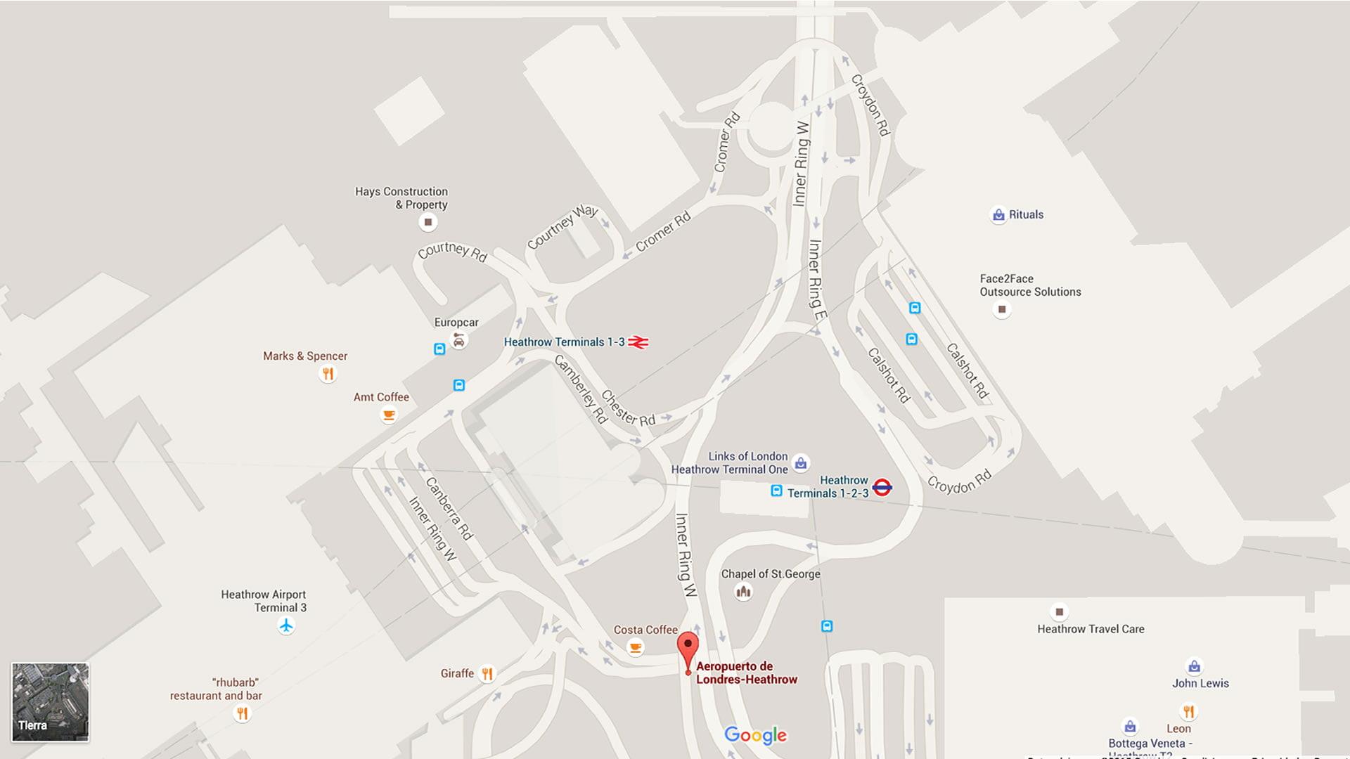 Mapa Del Aeropuerto De Londres Heathrow