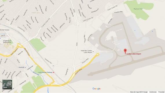 Mapa del Aeropuerto de Londres-Luton