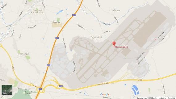 Mapa del Aeropuerto de Londres-Stansted