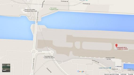 Mapa del Aeropuerto de la Ciudad de Londres