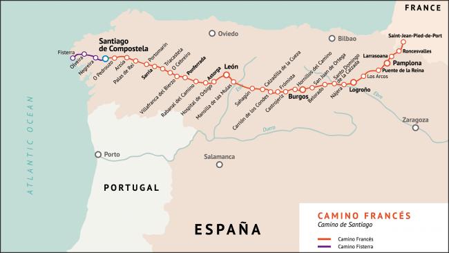 Las rutas del camino de santiago for Ruta del mueble sarria