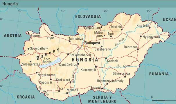 hungria mapa Mapa de Hungria ~ Online Map hungria mapa