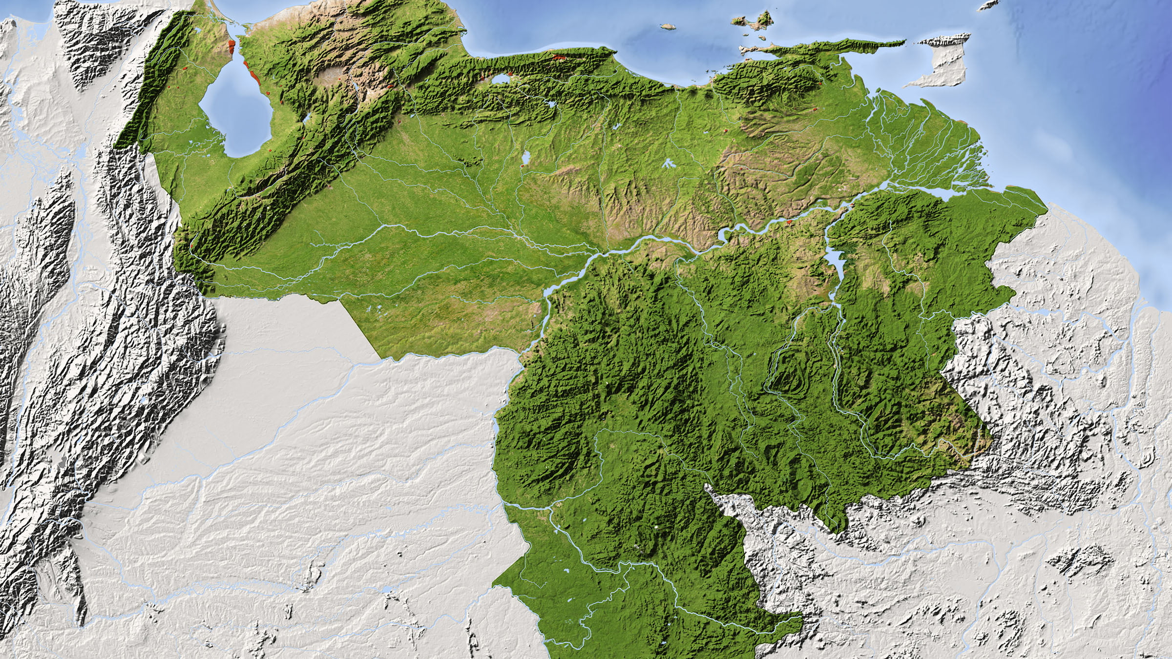 Cartina Fisica America Latina.Carta Fisica Di U Venezuela