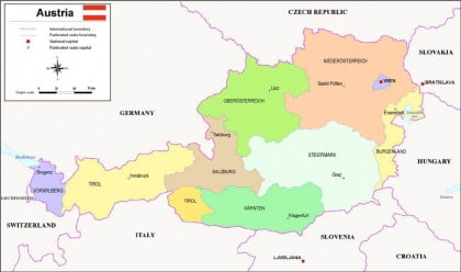 Mapa politico Austria