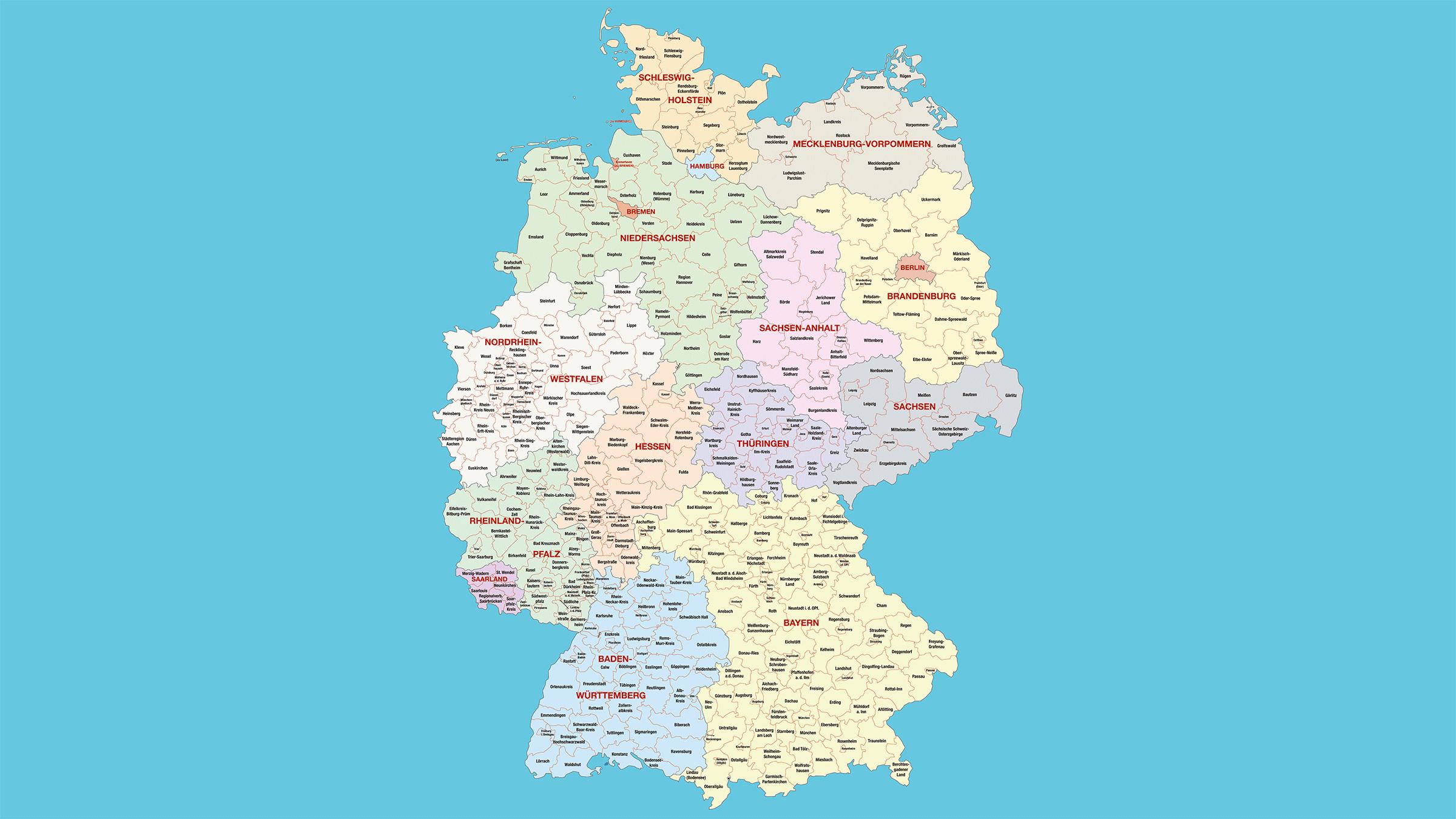Mapa poltico de Alemania