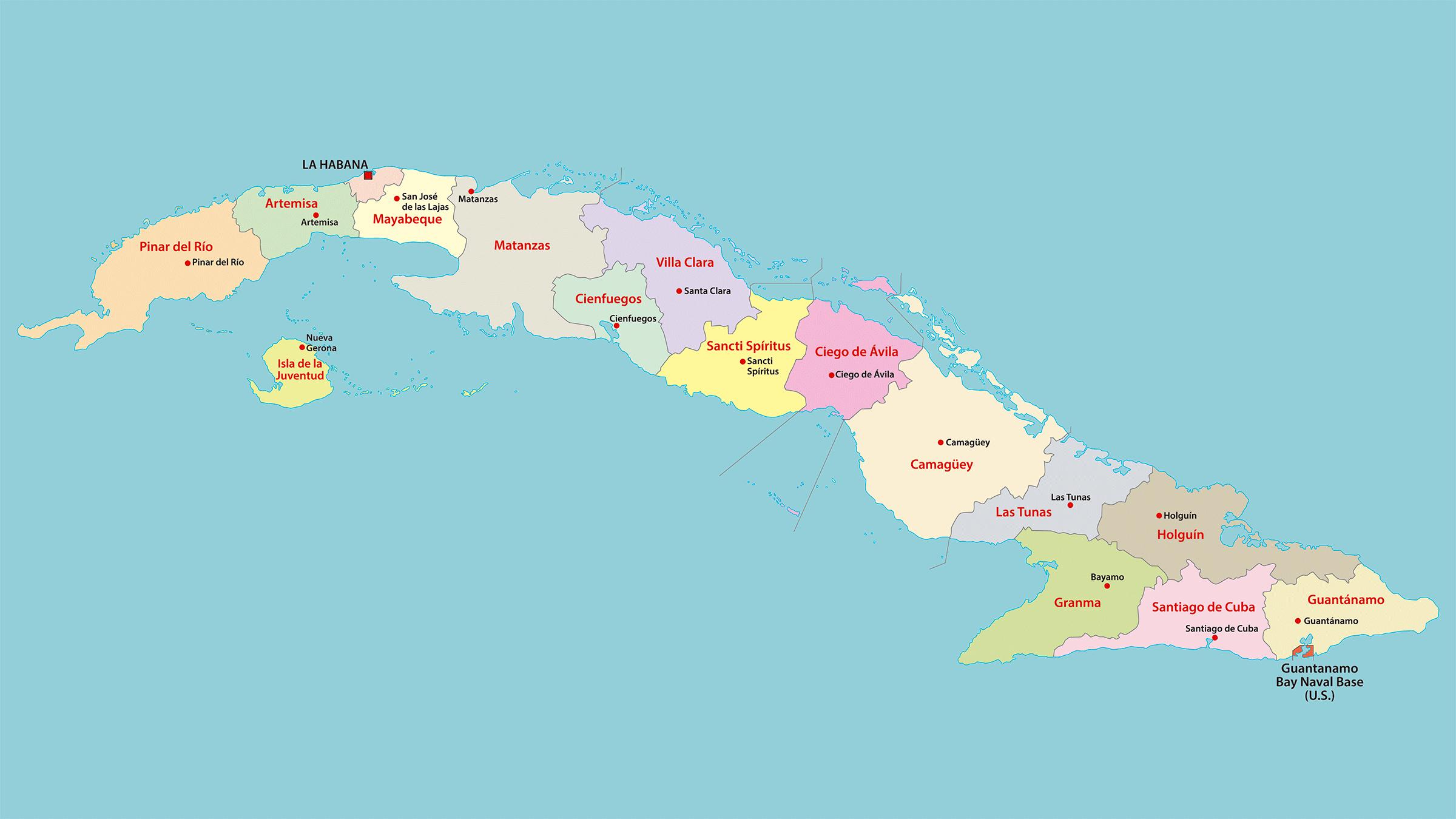 mapa de cuba Mapa político de Cuba mapa de cuba
