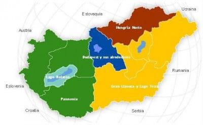 Mapa politico de Hungria