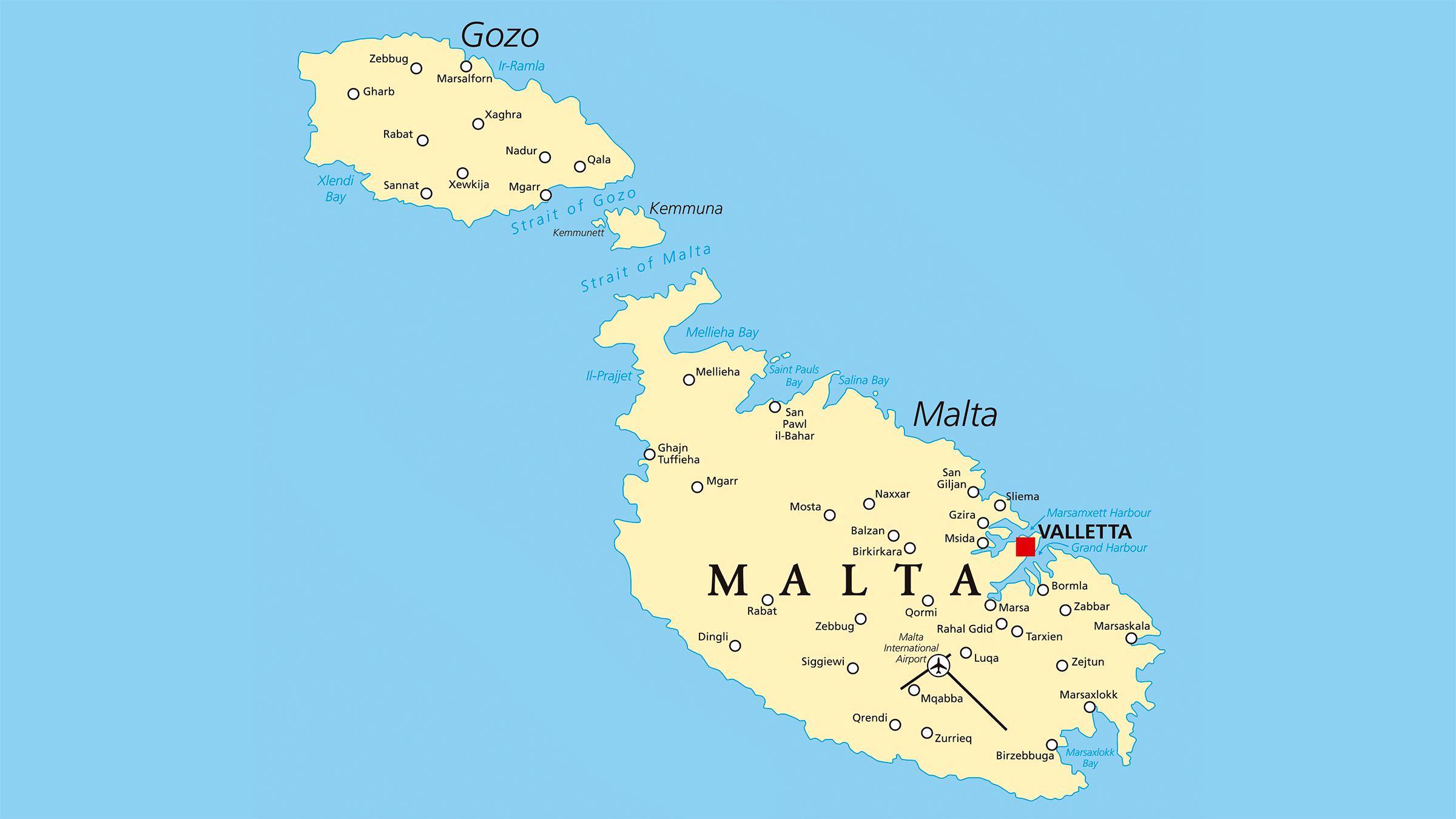 malta mapa Mapa politico de Malta malta mapa