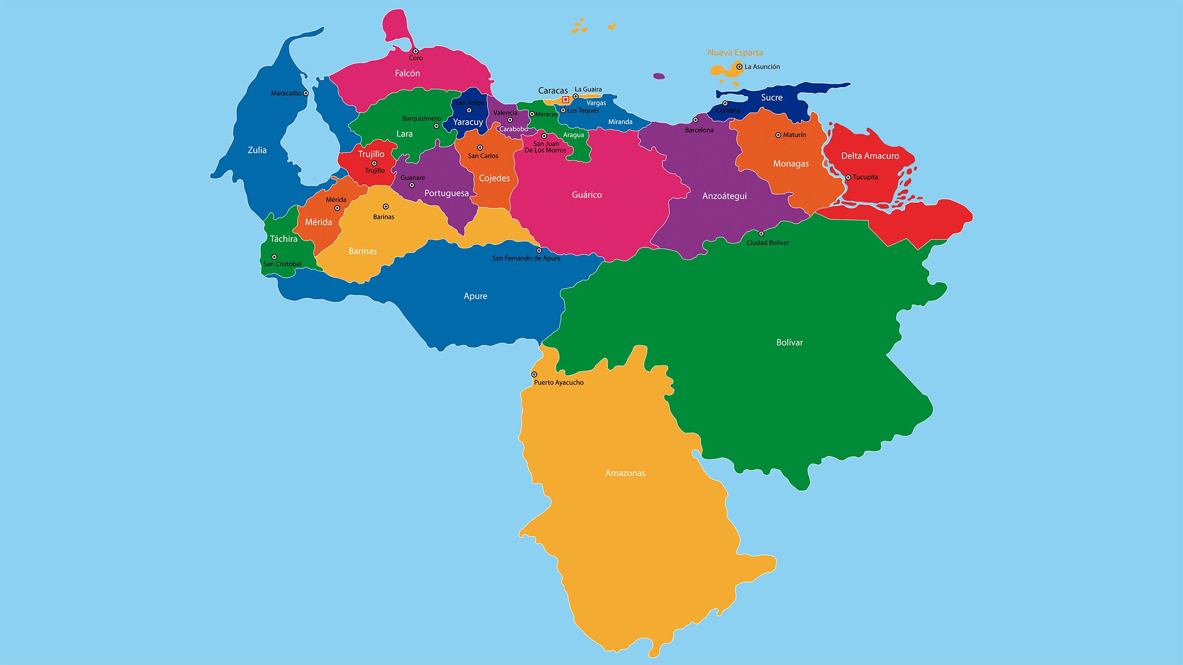 venezuela mapa Mapa político de Venezuela venezuela mapa