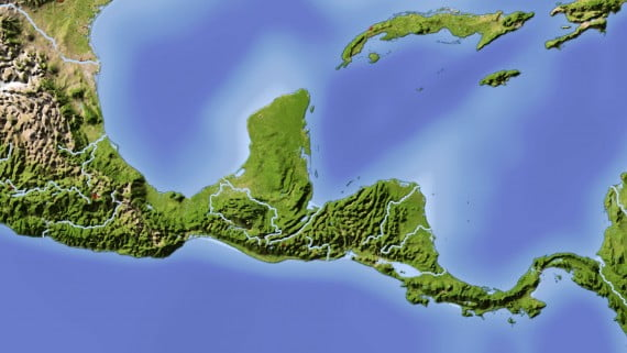 Mapa ríos de América Central