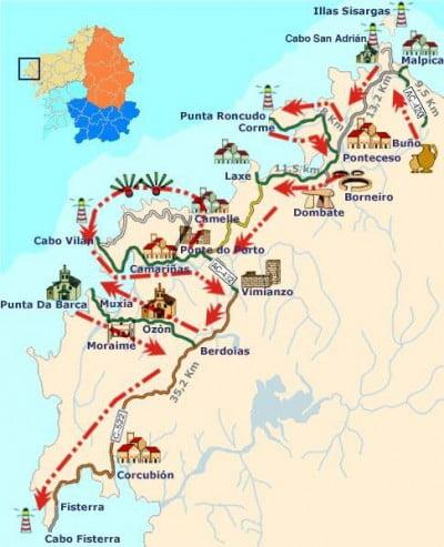 A Coruña Mapa Turistico.Mapa Turistico De A Coruna