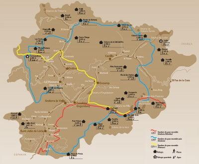 Mapa turístico de Andorra