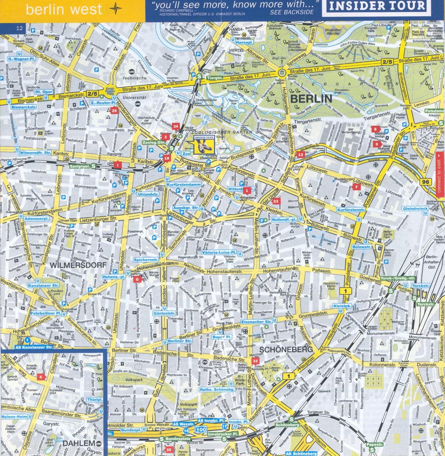 Mapa turstico de Berln