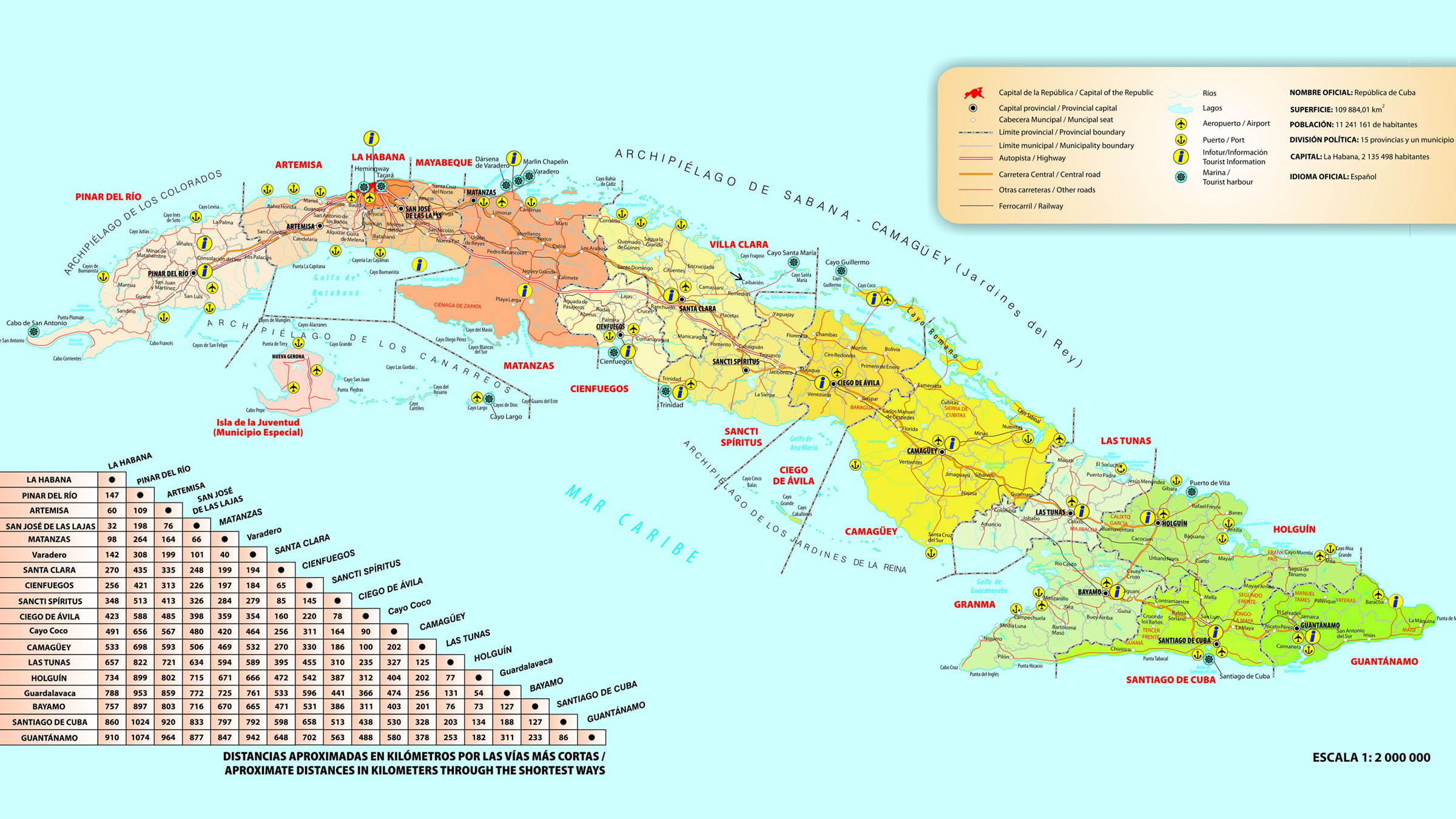 mapa de cuba Mapa turístico de Cuba mapa de cuba
