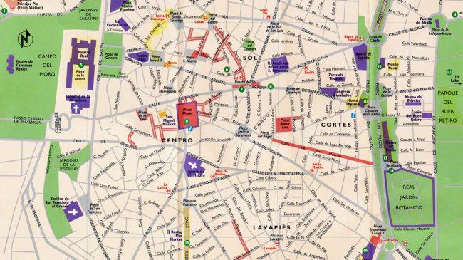 Mapa Puerta Del Sol.Mapa Turistico De Madrid