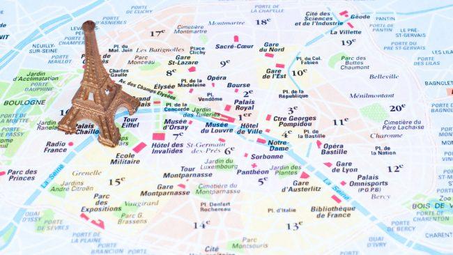 Touristenkarte von Paris