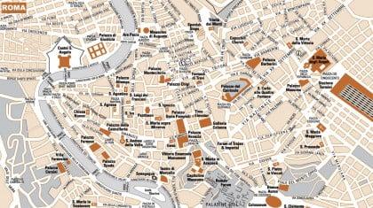 Mapa turístico de Roma