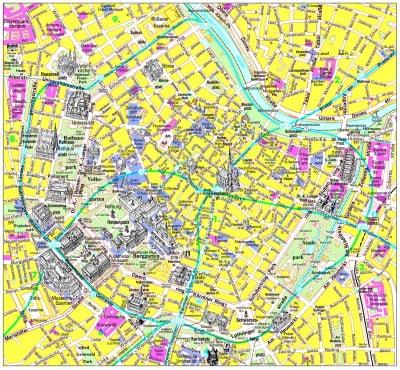 Mapa turístico de Viena