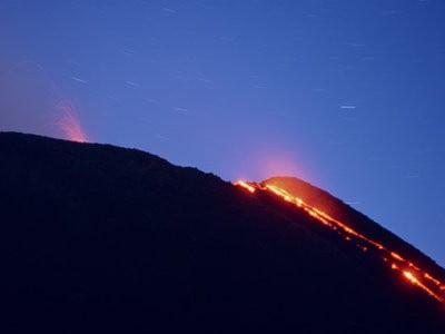 Mapa volcánico & volcanes  erupción