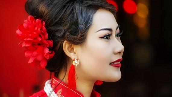 """Maquillaje tradicional del """"cheongsam"""""""