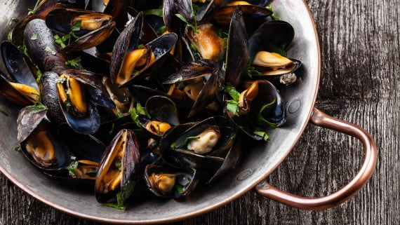 Mussels to the vinaigrette