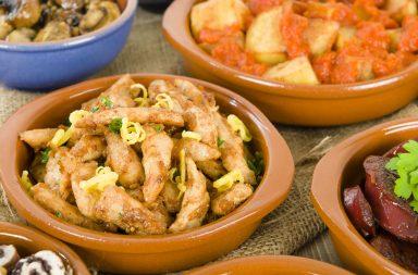 Menú de tapas españolas
