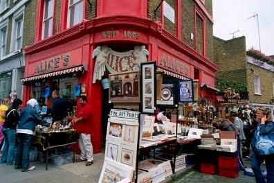 Mercadillos en Londres Portobello