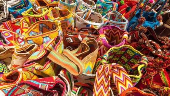 Typische Rucksäcke von La Guajira