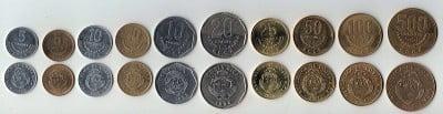 Monedas en uso de Costa Rica