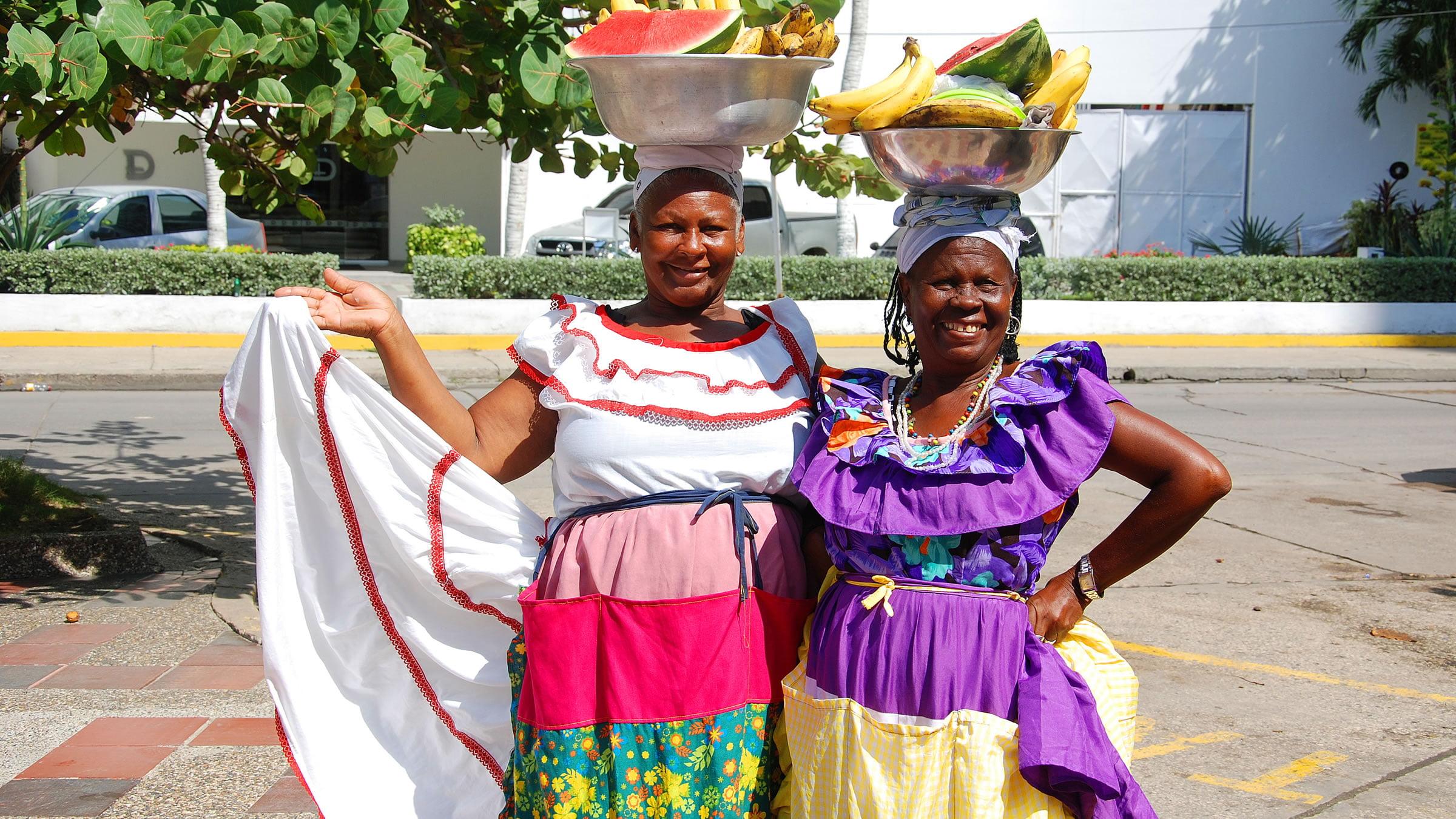 Mujeres palenqueras en Cartagena, Colombia
