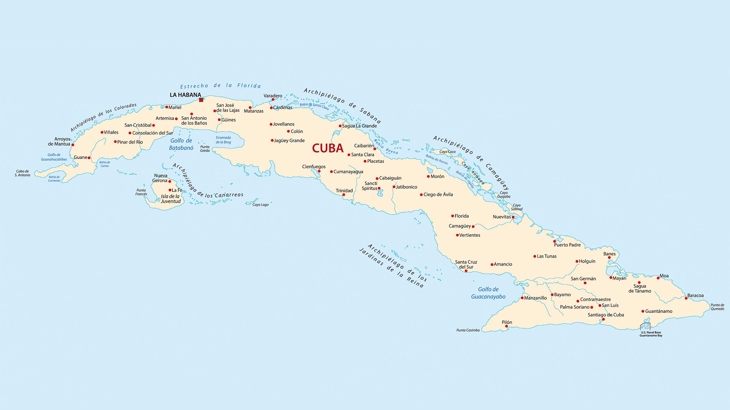 mapa de cuba Mapa de municipios de Cuba mapa de cuba
