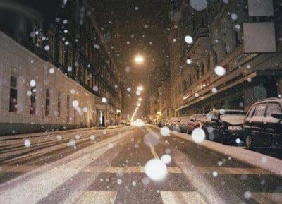 Nevando en Viena