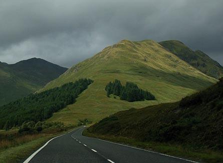 Paisaje carretera Escocia