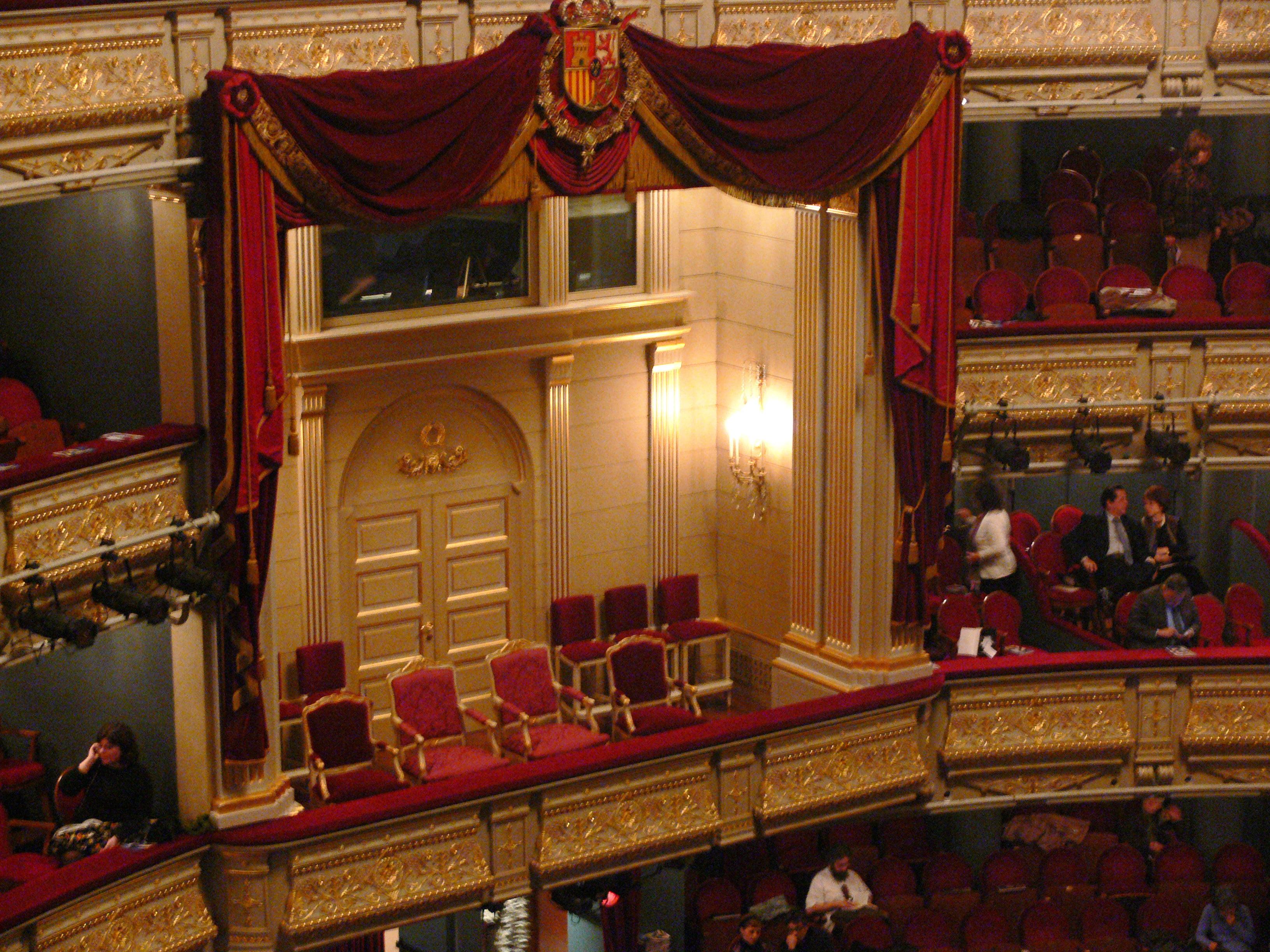 Palco Real de Teatro Real de Madrid
