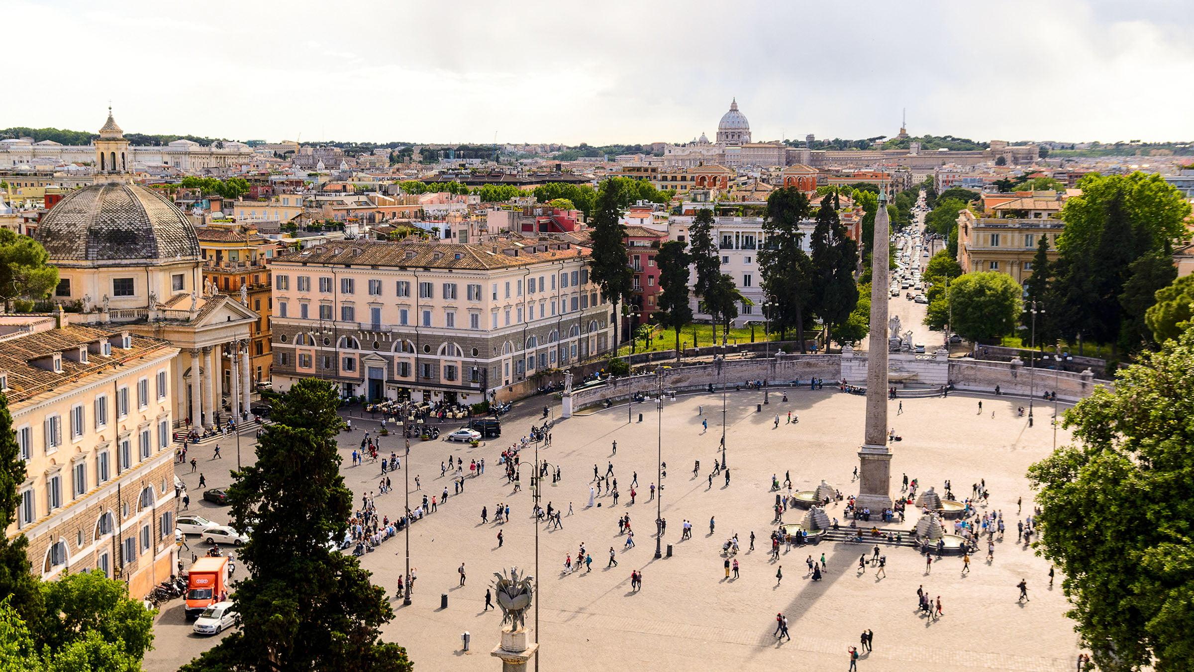 Piazza del Popolo en Roma