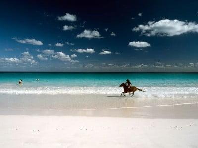 Pink Sand Beach en Las Bahamas