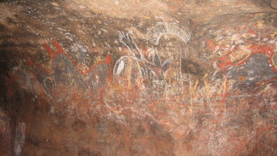 Rock paintings tribal groups Australia