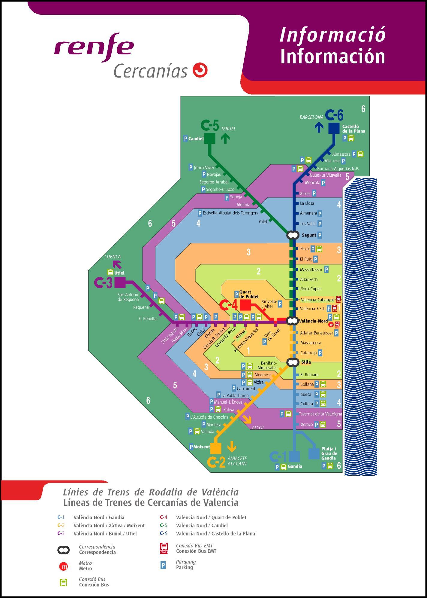 Plano de Cercanías