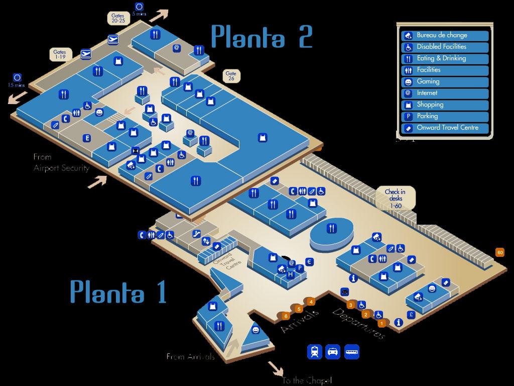 Plano del aeropuerto de Luton