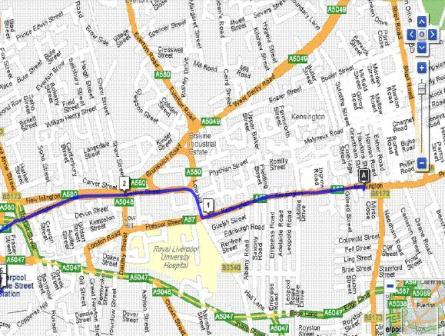 Plano de Liverpool calles