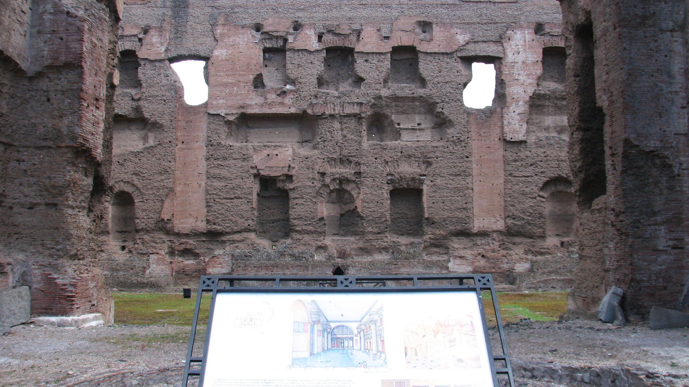 Plano de las Termas de Caracalla, Roma