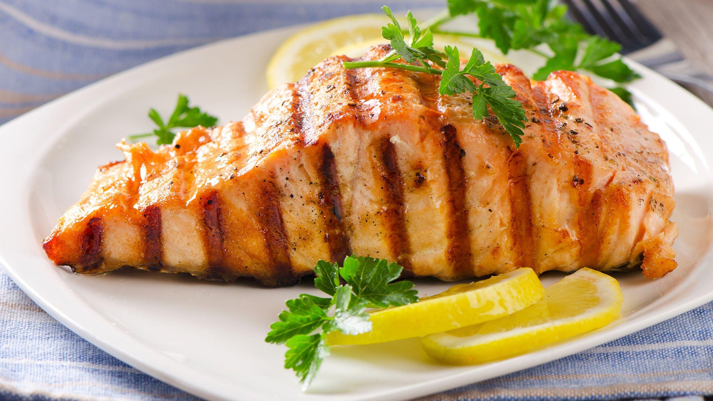 Plato de Salmon a la plancha
