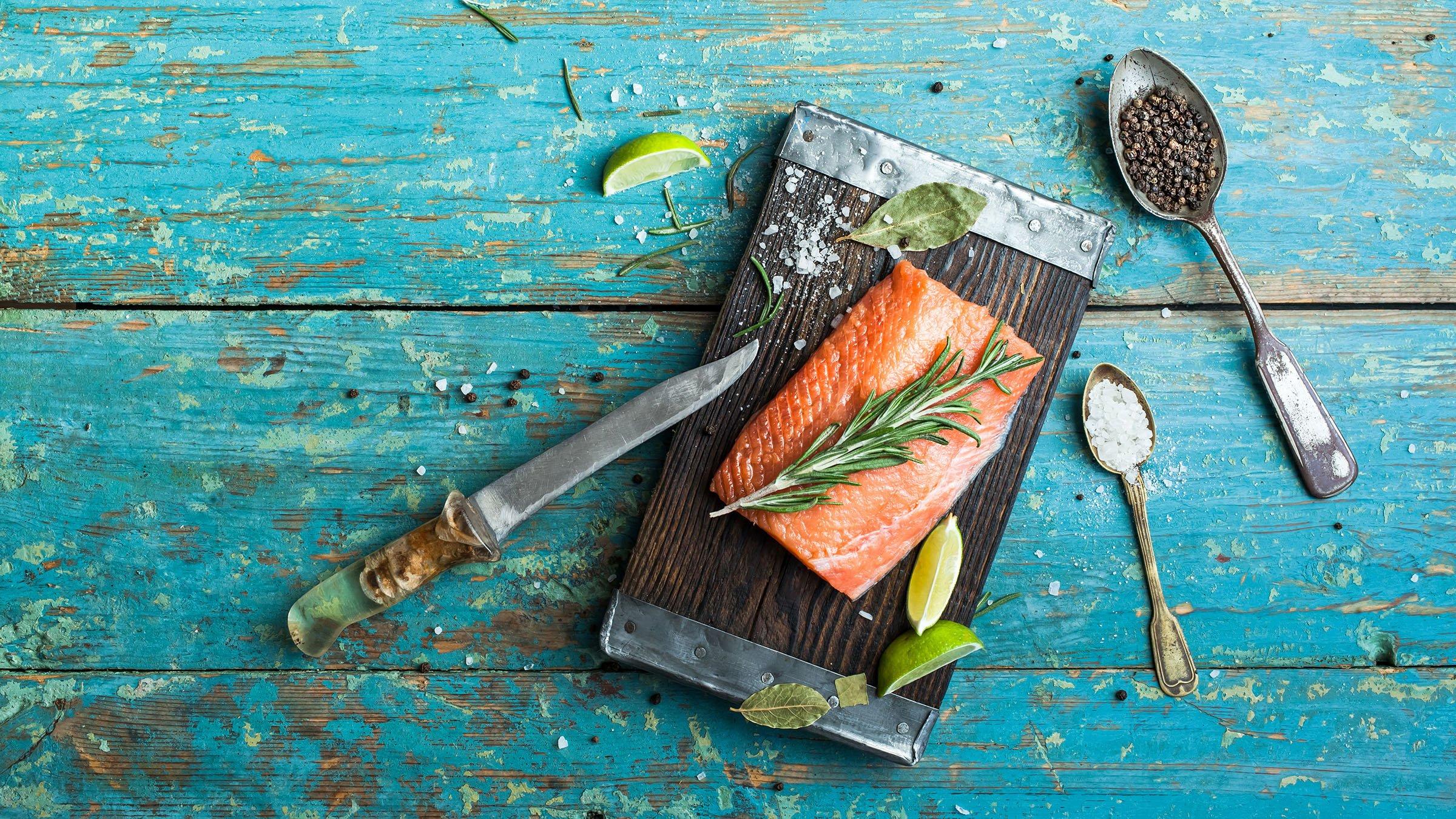Platos con salmon