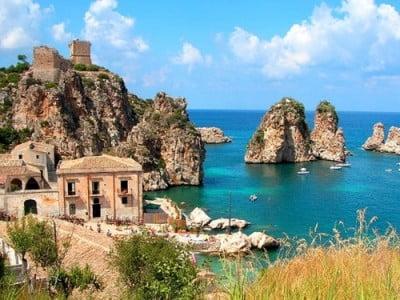 Playa Scopello en Sicilia