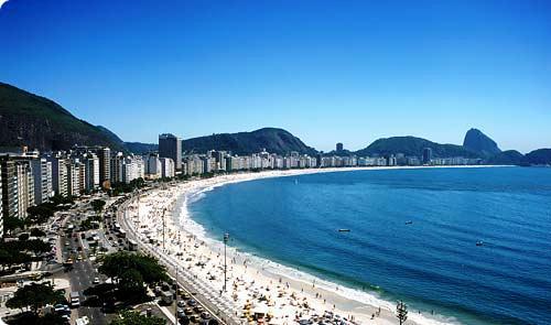 Resultado de imagen para río de janeiro brasil playa de Copacabana